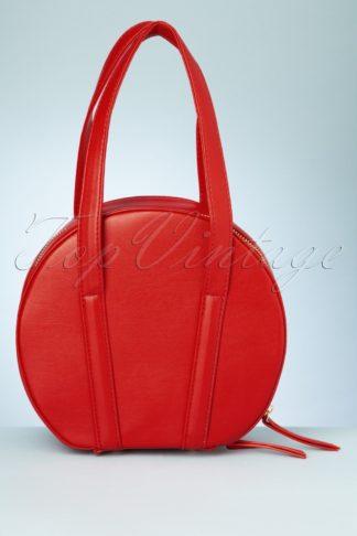 60s Rhonda Round Handbag in Red