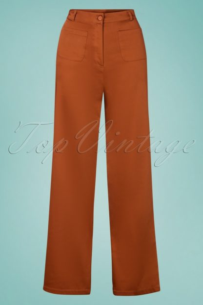 70s Ghita Trousers in Fox Brown