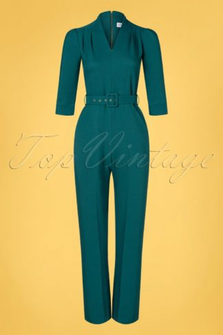 70s Tiffany Jumpsuit in Teal