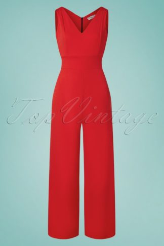 70s Xenia Jumpsuit in Scarlet Red