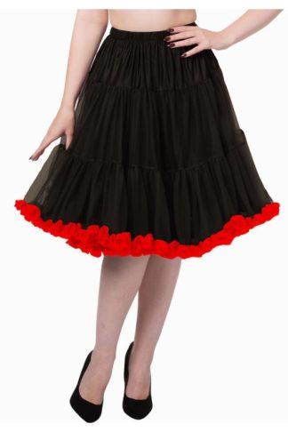 Banned Petticoat Schwarz/Rot