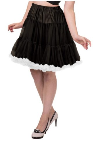 Banned Petticoat Schwarz/Weiss