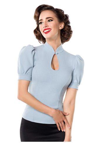 Belsira Jersey Bluse Hellblau