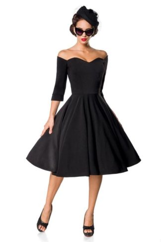 Belsira Premium Swing-Kleid Schwarz