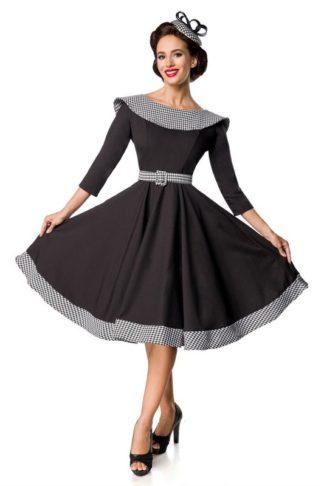 Belsira Premium Swingkleid Schwarz Weiß