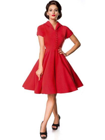 Belsira Retro Swing-Kleid Rot