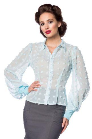 Belsira Vintage Bluse Blau