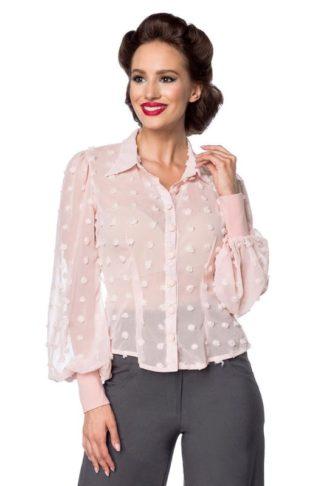 Belsira Vintage Bluse Rosa