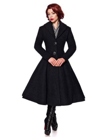 Belsira Vintage Mantel Schwarz