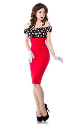Belsira Vintage Pencil Kleid Rot