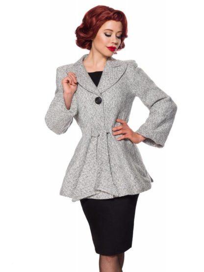 Belsira Vintage Premium Blazer-Jacke mit Gürtel