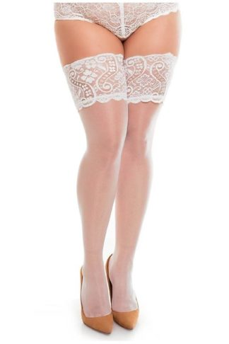 Glamory Hold Ups Comfort 20 Weiss