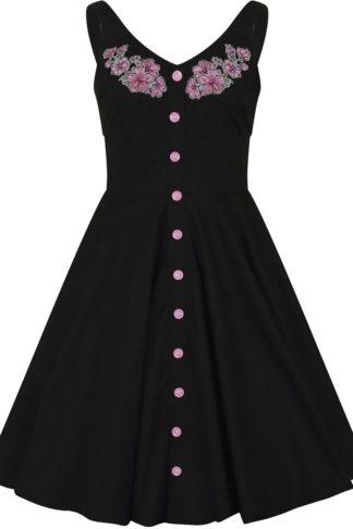 Hell Bunny Lucy Mid Dress Mittellanges Kleid schwarz
