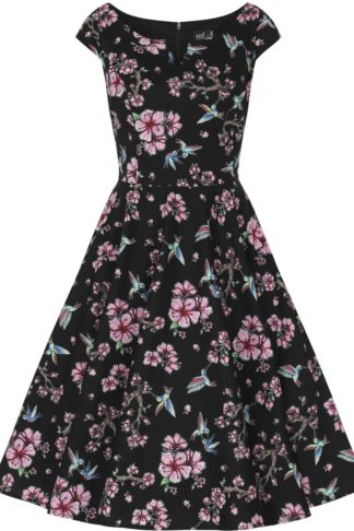Hell Bunny Madison 50's Dress Mittellanges Kleid schwarz