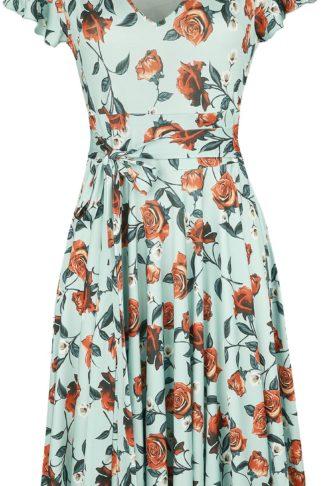 Hell Bunny Romance Dress Mittellanges Kleid hellblau