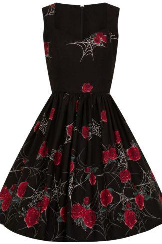 Hell Bunny Sabrina 50's Dress Mittellanges Kleid schwarz
