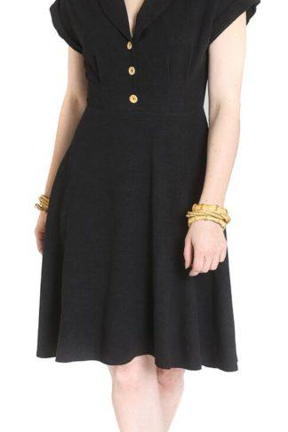 Hell Bunny Sahara Dress Mittellanges Kleid schwarz