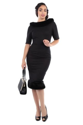 Juliette Pencil Dress Black