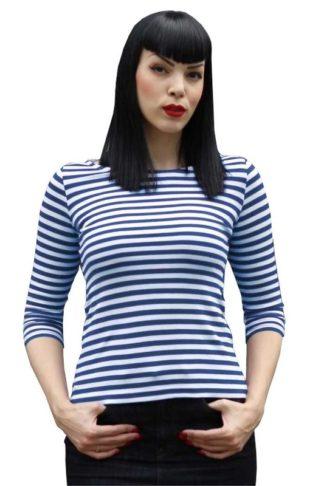 Klassisches Streifen-Shirt Blau