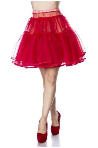 Kurzer Petticoat Rot