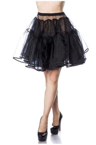 Kurzer Petticoat Schwarz