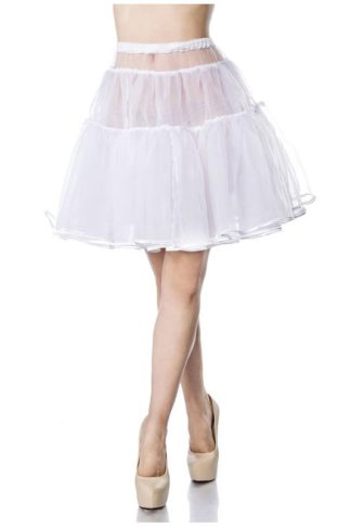Kurzer Petticoat Weiss