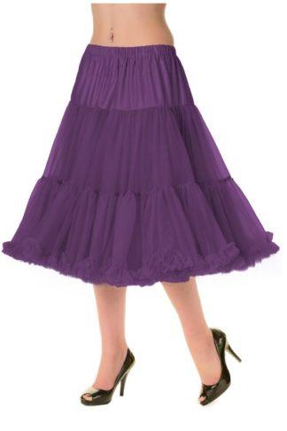 Langer Petticoat Aubergine