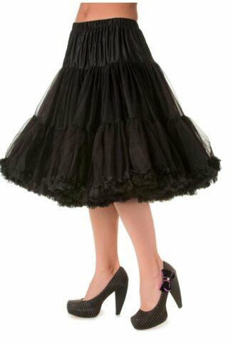Langer Petticoat Schwarz