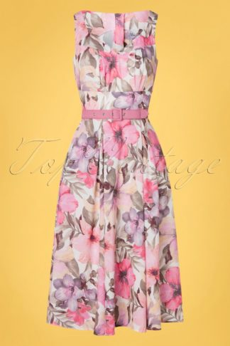 Limited edition ~ 50s Kaitlin Taffy Swing Dress in Pink
