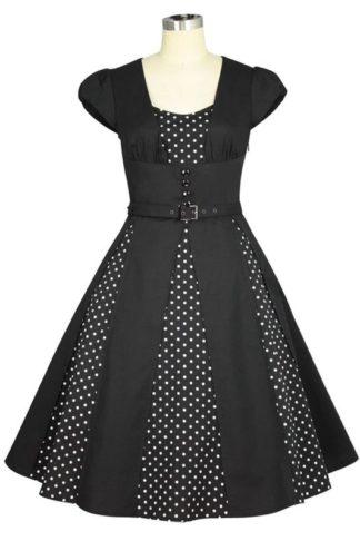 Panel Retro Dress Black