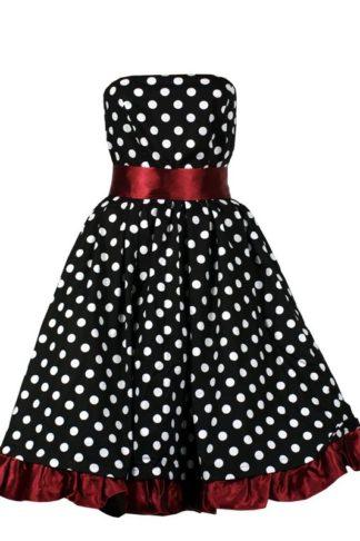 Popeline Kleid Rotes Satinband