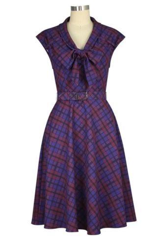 Retro 1940s Dress Purple