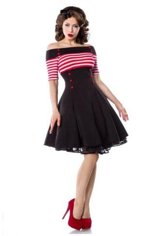 Vintage Kleid mit roten Streifen