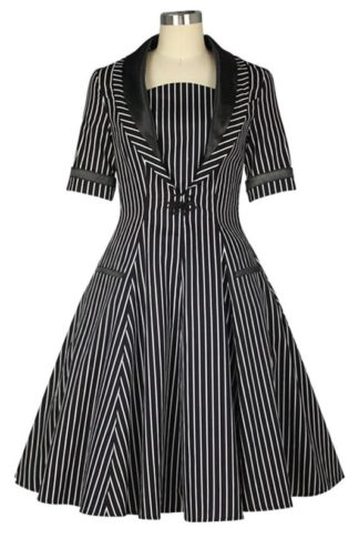 Vintage Nadelstreifen Kleid