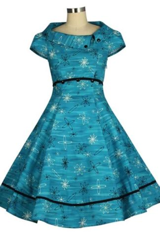 Vintage Swingkleid Teal