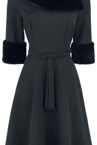 Voodoo Vixen Tabitha Mittellanges Kleid schwarz