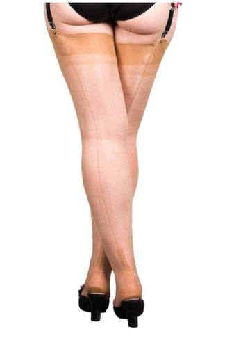 What Katie did Nylons Cuban Heel Champagner