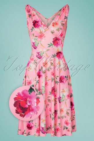 50s Ana Rose Dress in Pink