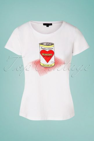 50s Can With Love T-Shirt in White