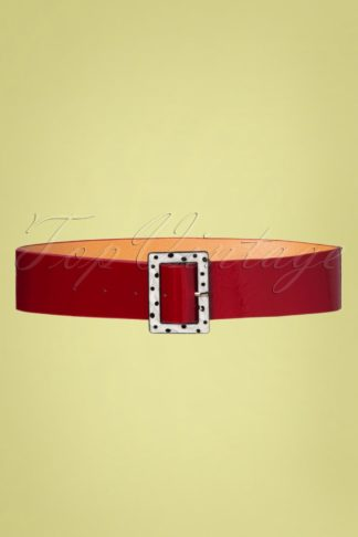 50s Chenelle Belt in Red