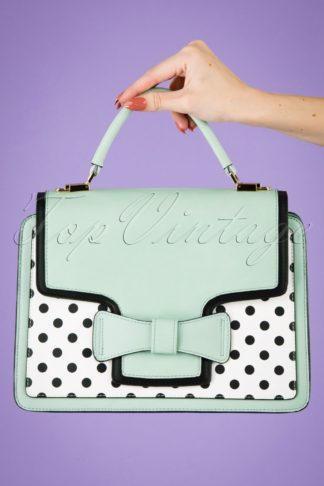 50s Chloe Polkadot Handbag in Mint