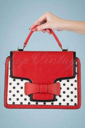 50s Chloe Polkadot Handbag in Red
