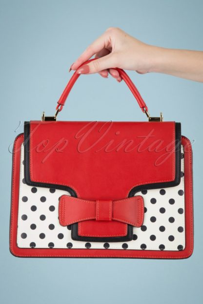50s Chloe Polkadot Handbag in Red