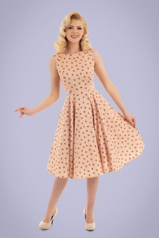 50s Dorothy Swing Dress in Pale Pink