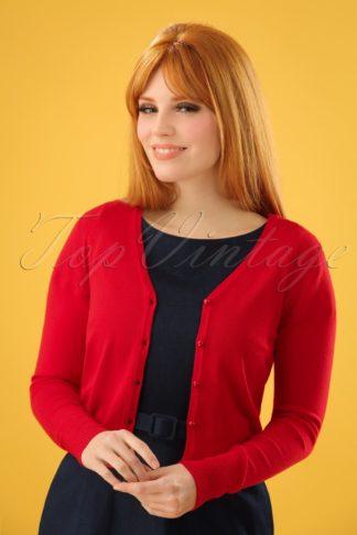 50s Eva Cardigan in Lipstick Red