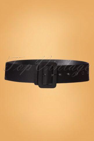 50s Jade Plain Belt in Black
