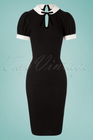 50s Khloe Pencil Dress in Black