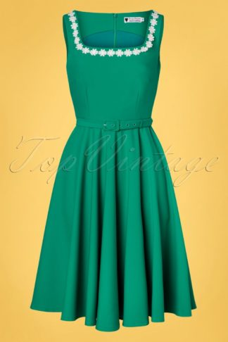 50s Rosie Swing Dress in Turquoise