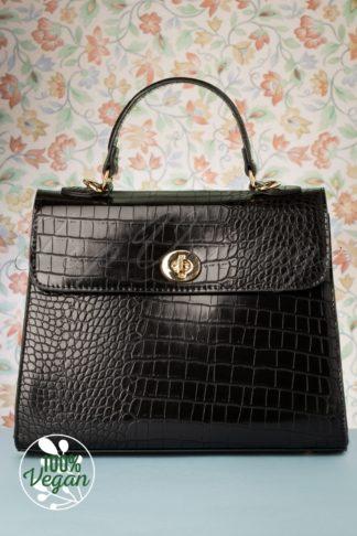 50s Versailles Handbag in Black