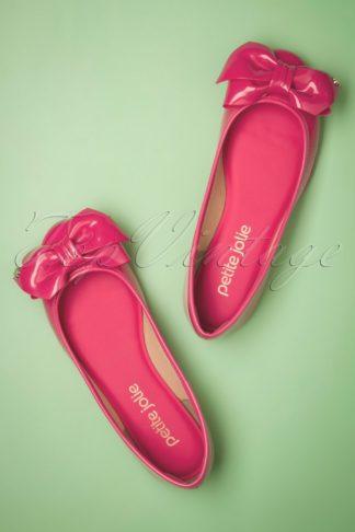 60s Julie Bow Flats in Pink Lemonade